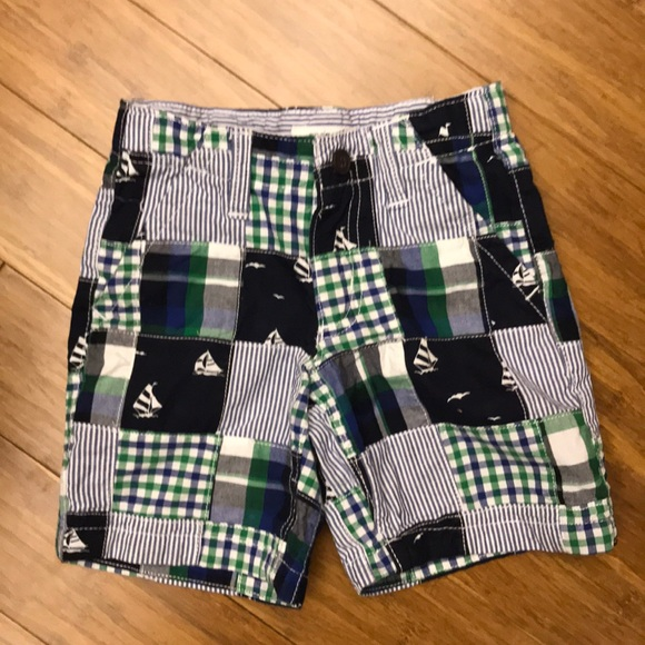 Gymboree Boys Patchwork Pull On Shorts 2T